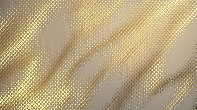 Abstract Grid Background (Gold) - Loop