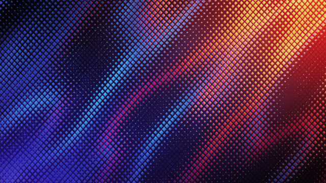 Abstract Grid Background (Blue And Orange) - Loop Digitally generated abstract background animation with copy space, perfectly usable for a wide range of topics. Seamlessly loopable. background color stock videos & royalty-free footage