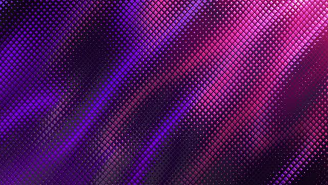 추상 그리드 배경 (분홍색 / 보라색) - 루프 - abstract background 스톡 비디오 및 b-롤 화면