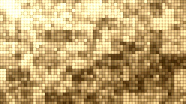 Abstract Grid Background (Dark Gold) - stock video - suitable for vertical use