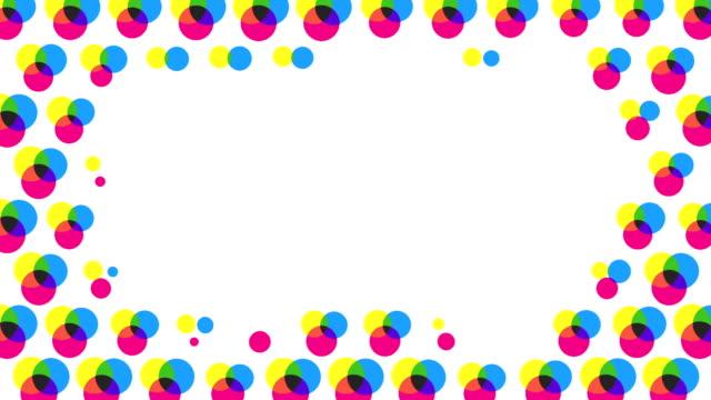 metà sfondo astratto toni (possibile che il loop) - pop art video stock e b–roll