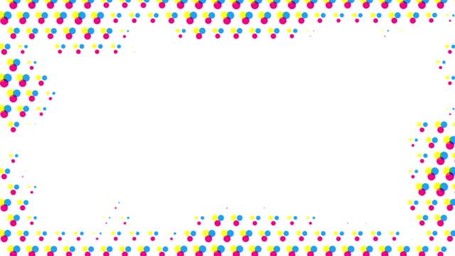 stockvideo's en b-roll-footage met abstract half tone frame background (loop-able) - halftint