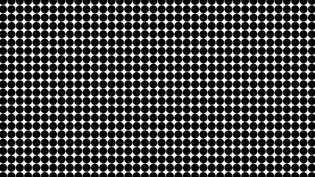 Abstract Halftone Moving Background. Dots on white background video