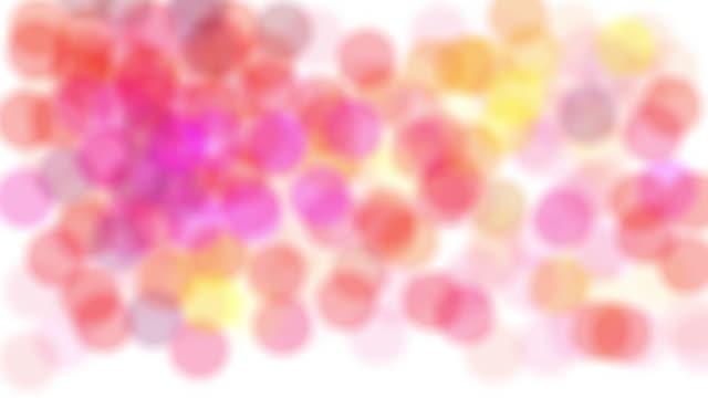 vídeos y material grabado en eventos de stock de animación de handrawn resumen de topos de colores - lunares