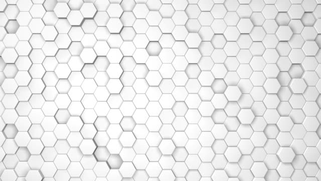 abstract heaxagons animated background - esagono video stock e b–roll