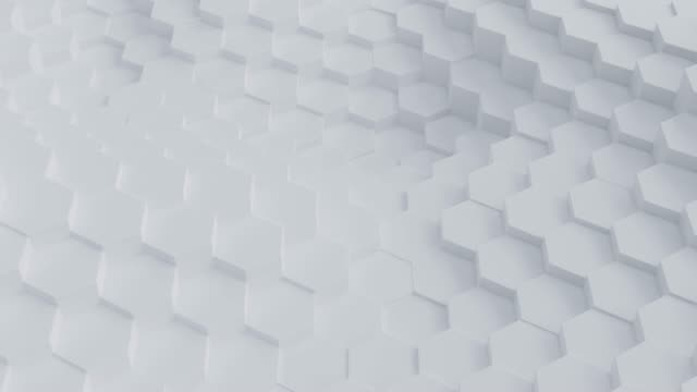 Abstract hexagon geometric surface loop pattern on white background