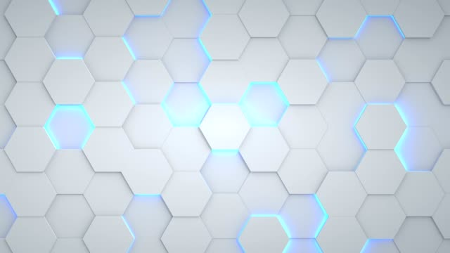 abstract hexagon geometric surface loop - esagono video stock e b–roll