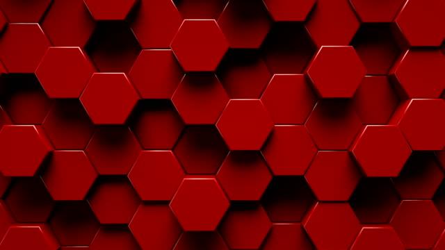 superficie geometrica esagonale astratta | loopable - esagono video stock e b–roll