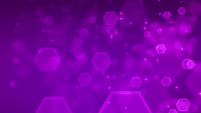 4K Abstract Hexagon Purple Backgrounds Loopable video