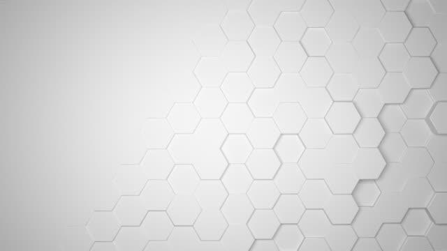 sfondo esagonale astratto - esagono video stock e b–roll