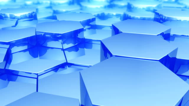 Abstract hexagonal background video