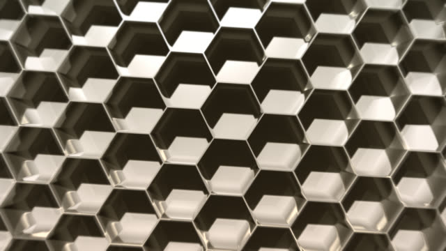 Abstract Hexagonal Shadow Background
