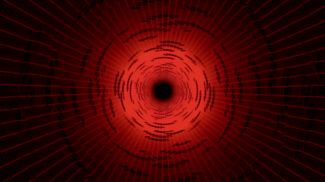 Abstract hi-tech tunnel motion background video