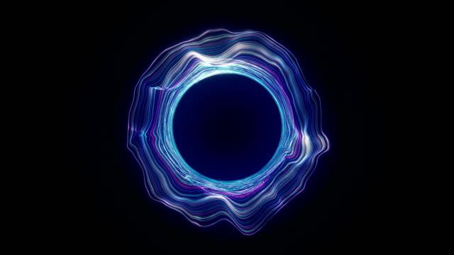 abstrakte loch portal - kreis stock-videos und b-roll-filmmaterial