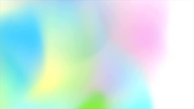 abstrakte holographische weichen farbverlauf formen videoanimation - holografisch stock-videos und b-roll-filmmaterial