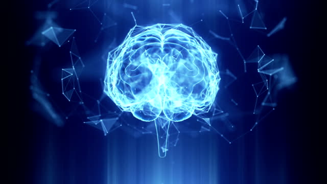 Abstract Human Brain Technology Background Abstract Human Brain Technology Background brain stock videos & royalty-free footage