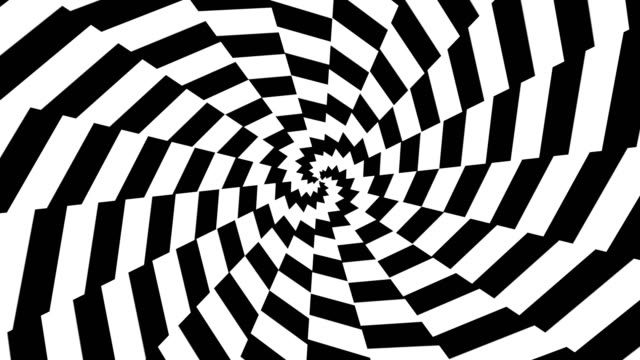 Abstract hypnotic motion with black and white color video