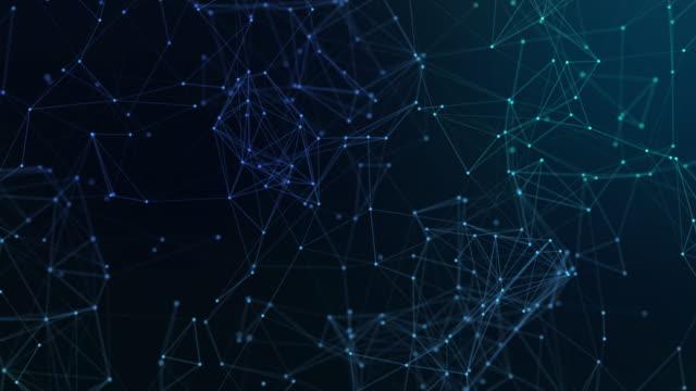 abstrakt illustration bakgrund rörelse omvandling med flimrande ljus på plexus mönster av framtida innovation teknik digitala affärspunkter linjenätverk decentralisera kommunikationsanslutning - blockkedja bildbanksvideor och videomaterial från bakom kulisserna