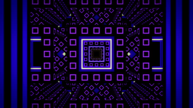 Abstract infinite tunnel from fractal cubes video