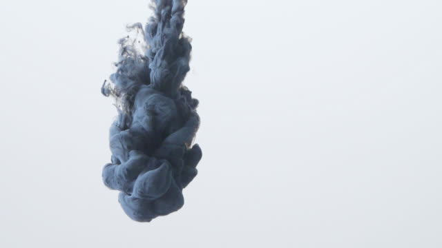 Abstract  ink flow in water Slow motion video
