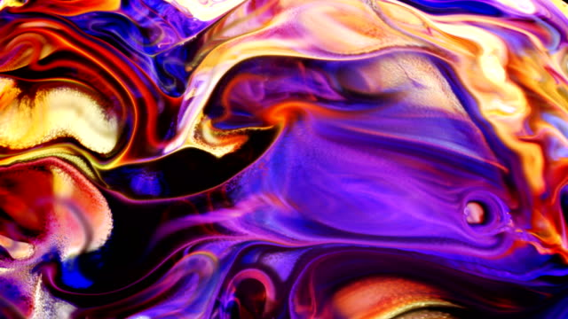 Abstract Ink Paint Movement Explode and Spread on Milky Liquid Element