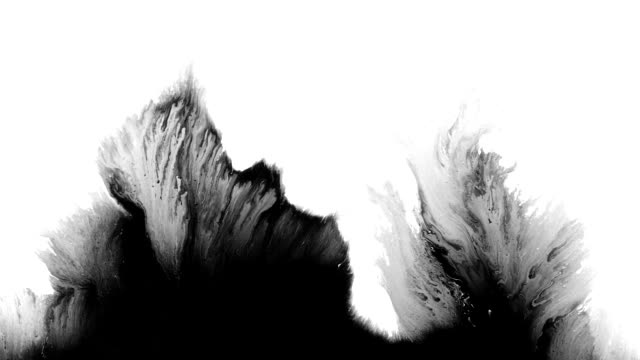 Abstract Ink splash spreads across the screen