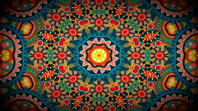 sfondo astratto kaleida vj - hippy video stock e b–roll