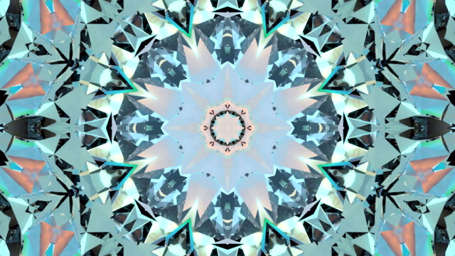 Abstract kaleidoscope animation video