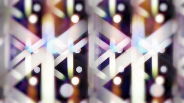 Abstract kaleidoscope Bokeh light line pattern shining colorful moving, Christmas and Happy new year festive concept background 4K footage video video
