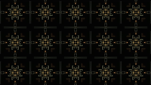 Abstract kaleidoscopic background patterns.