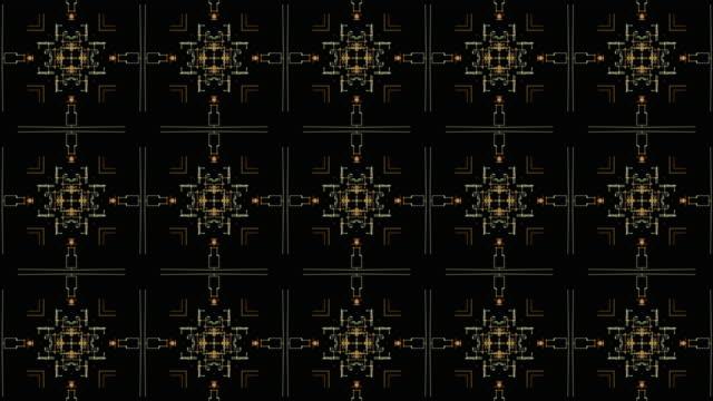 vídeos de stock e filmes b-roll de abstract kaleidoscopic background patterns. - mosaicos flores