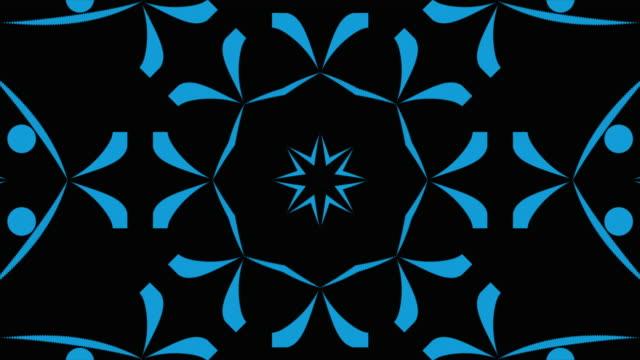 abstrakta kaleidoskopiska bakgrunds mönster. - blommönster bildbanksvideor och videomaterial från bakom kulisserna