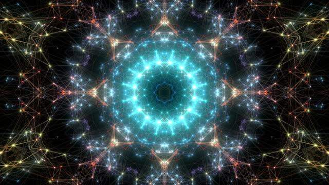 abstract kaleidoscopic background. - узор калейдоскоп стоковые видео и кадры b-roll