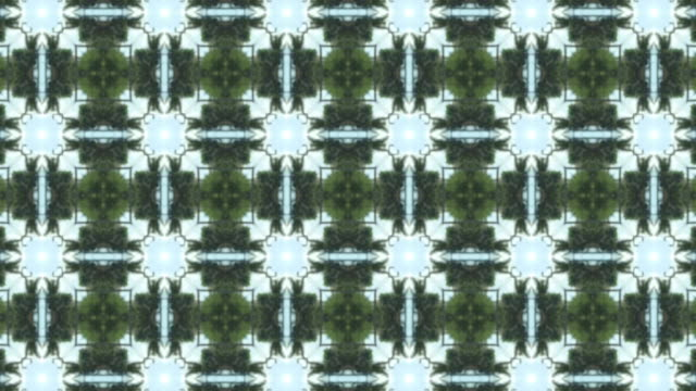 Abstract kaleidoscopic pattern background video
