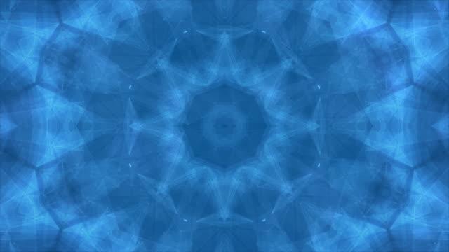 vídeos de stock e filmes b-roll de abstract  kaleidoscopic patterns background,4k - mosaicos flores