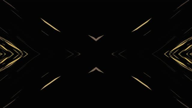 抽象的な万華鏡パターンの背景、4k - 対称点の映像素材/bロール