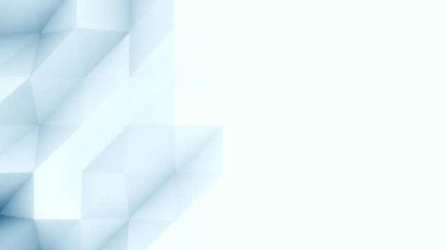 Abstract light blue 3D polygonal motion background for modern reports and presetations. FullHD seamless loop animation, ProRes video
