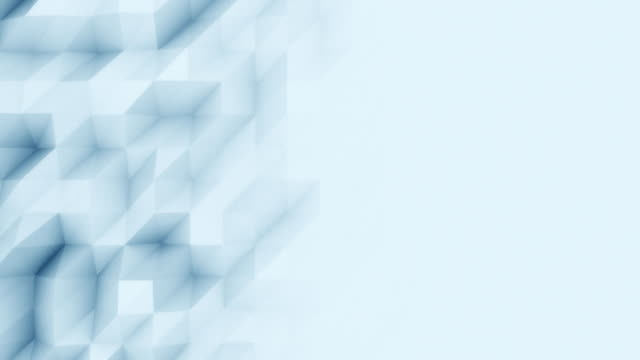 Abstract light blue polygonal motion background for modern reports and presetations. FullHD seamless loop animation, ProRes video