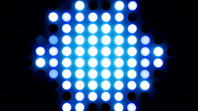 abstrakte glühbirnen schleife blau - led leuchtmittel stock-videos und b-roll-filmmaterial