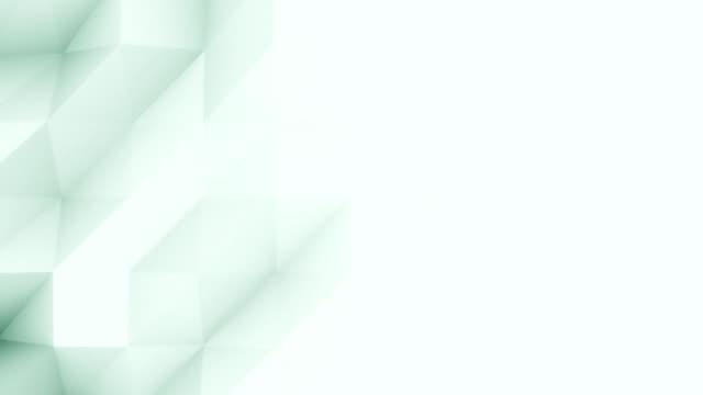 abstrakta ljus gröna 3d månghörniga rörelse bakgrunden för moderna rapporter och presetations. fullhd sömlös loop animation, prores - på gränsen bildbanksvideor och videomaterial från bakom kulisserna