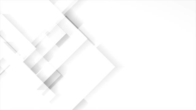 Video Abstract light grey technology geometric video animation