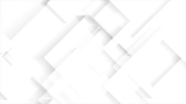 vidéos et rushes de animation vidéo géométriques abstraites technologie gris clair - gris
