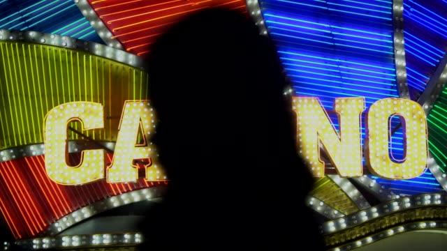 4K Abstract light in casino in macau