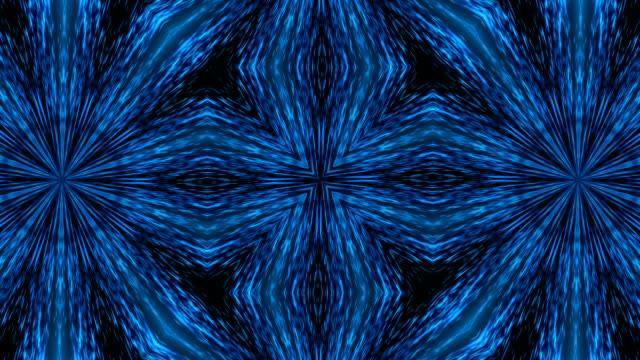 Abstract light kaleidoscope. Seamless loop video