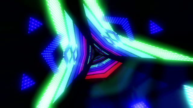 Abstract light tunnel multi colored video