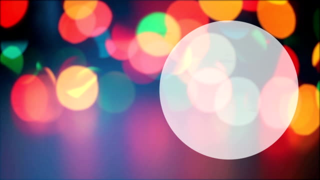 Abstract lights bokeh background video