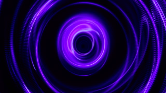 Abstract lilac funnel from the inside video