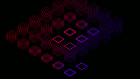Abstract line 3D virtual isometric square lighting moving, Blockchain technology network digital data transfer concept design, glowing on black background animation 4K Abstract line 3D virtual isometric square lighting moving, Blockchain technology network digital data transfer concept design, glowing on black background animation 4K digital composite stock videos & royalty-free footage