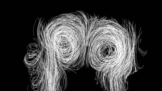 abstract line art - mikrobiologia filmów i materiałów b-roll