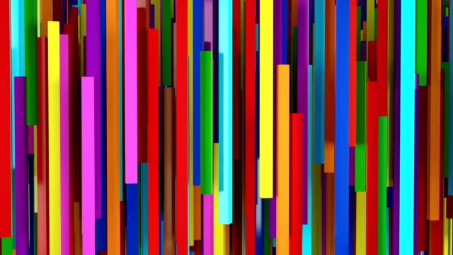 vídeos y material grabado en eventos de stock de lazo de fondo de líneas abstractas - color vibrante